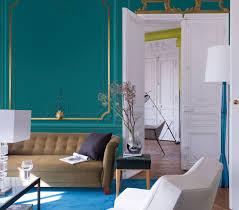chambre peinte en bleu peinture bleu paon fashion designs