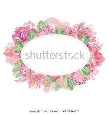 soft vector oval floral frame beautiful stock vector 423954952