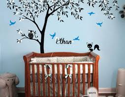 Custom Nursery Wall Decals Baby Room Wall Decals Trees Personalized Wall Decals For