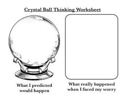 crystal ball thinking cbt worksheet counselling worksheets