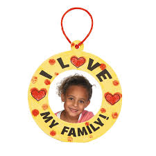 i love my family u201d thumbprint christmas ornament craft kit