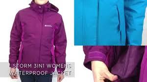 storm 3 in 1 womens waterproof jacket youtube