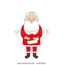 santa claus holding his hat stock vector 515277157