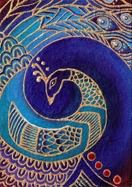 blue peacock painting by cha0scat http cha0scat deviantart com