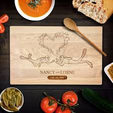 engraved platter wedding gift custom cutting board personalized wedding gift scuba divers