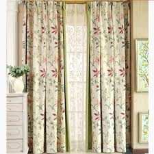 Green And Beige Curtains Beige And Lime Green Botanical Print Linen Cotton Blend Country