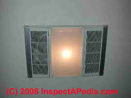 Bathroom Light And Exhaust Fan Bathroom Vent Fan Codes Installation Inspection Repairs