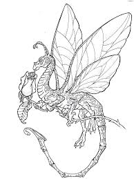 coloring pages halloween scary adults flowers dragon image