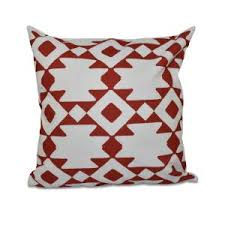 Red Decorative Pillow Home Dynamix Printed Cotton 20 In Red Decorative Pillow Pc8012