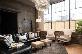 St Louis Modern Furniture by Modern City Condo Industrial Living Room St Louis By