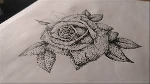 dotwork rose speed drawing youtube