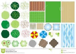 Planning Garden Layout by Garden Design Icons Stock Images Image 1024384