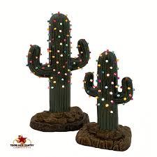 saguaro cactus ceramic tree set 8 12 inches