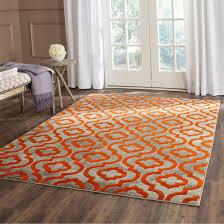 safavieh porcello contemporary geometric light grey orange rug 6