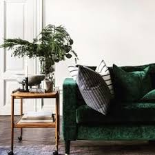 Emerald Green Velvet Sofa blush sofa and emerald green armchairs add color to neutrally