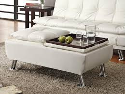 Leather Ottomans 25 White Leather Ottomans Square Rectangle