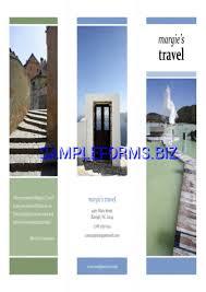 tri fold brochure template u0026 samples forms
