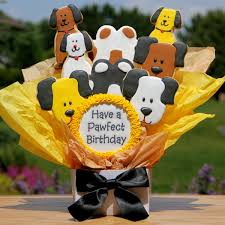 cookie bouquet cookie bouquet pawfect birthday dog cookie bouquets