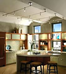 kitchen island track lighting pendant track lighting for kitchen stoneproject co
