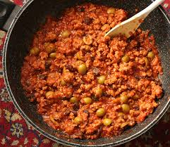 Indian Food Olives From Spain Picadillo With Green Olives And Raisins