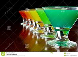 rainbow cocktail drink rainbow shots stock image image of blue cherry orange 31858795
