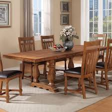 warehouse m bryce canyon transitional trestle table with two