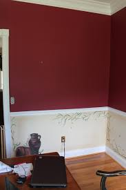 awesome red dining room chair rail excellent home design