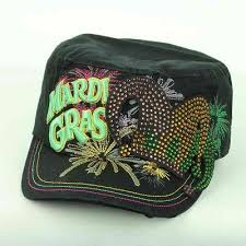 mardi gras hat mardi gras colorful cadet hat in black razzle dazzle unique boutique