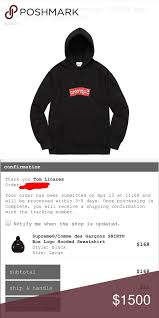supreme x cdg brand new 100 authentic supreme sweaters my posh