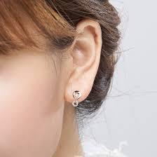infinity earrings infinity earrings with diamonds on 10k white gold jewelocean