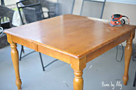 kitchen table refinishing ideas kitchen table redo home by ally