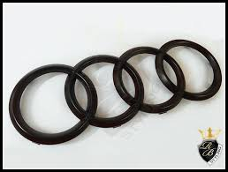 audi rings audi ring badge black matt for audi a2 from rb styling dülmen germany