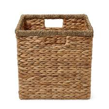 form mixxit natural water hyacinth u0026 seagrass storage cube