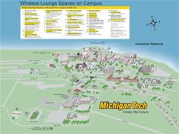 University Of Michigan Parking Map by Michigan Tech Campus Map Michigan Map