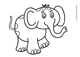 how to draw an elephant for kids draw step by step clip art