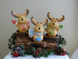 ceramic reindeer unique handpainted christmas gifts for your