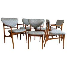 dining room alluring set of six mid century modern dining chair