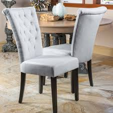 White Tufted Dining Chairs Tufted Dining Chairs For Residence Diy Room Hourglass Dark Grey