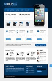 Business Web Design Homepage by Website Template 40897 Dropbox Iphone Ipad Custom Website