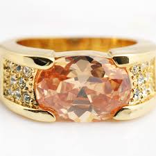 men s ring size yellow gold filled men s rings fashion jewelry new chagne men
