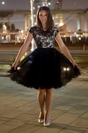 brianna black modest prom dress with sleeves