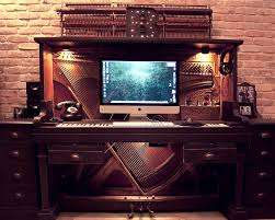 piano meets keyboard an old piano transformed into a desk piano