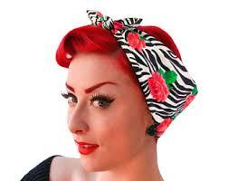 1950s hair accessories polka dot bandana rosie the riveter bandana polka