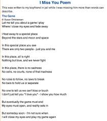 imissyou com i miss you poem the game by susan christensen