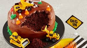 construction birthday cake construction site cake recipe bettycrocker