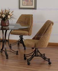dining room chairs with casters kitchen table set with swivel