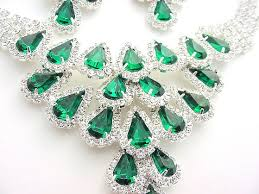 emerald earrings necklace images Swarovski austrian crystal and emerald rhinestone necklace and JPG