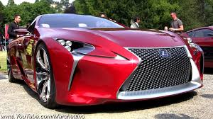 red lexus lf lc concept lexus lf lc overview and driving shots youtube