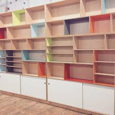 Bookcase Maple Custom Maple Plywood Bookcase With A Plethora Of Color Laminate