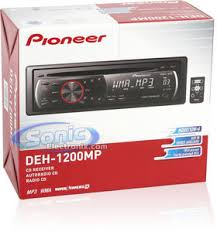 pioneer deh 1200mp cd mp3 wma car stereo receiver w aux and remote